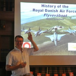 Henry Geijsbeek speaking about the Royal Danish Air Force at DACR 2016