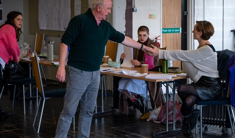 First look images of rehearsals for the World Premiere production of Tim Price's Isla