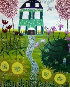 Julia Waco Acrylic Painting Summer Home