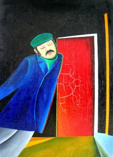Boris Uan-Zo-Li Painting Self Portrait