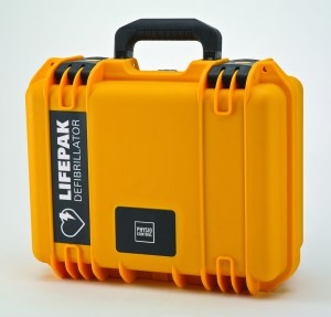 Optional Physio Control LIFEPAK CR Plus Weatherproof Hard Case. Sold individually of with the Maritime AED Package.