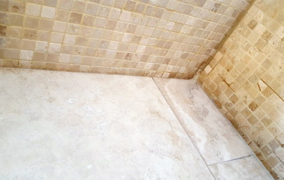 Travertine WetRoom Harrogate After Cleaning