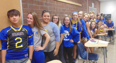 Blue&Gold Day; Ms. G's class