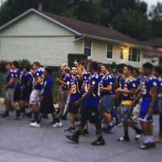 Nic Guinn and the football team