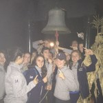 Northwood White rings the victory bell after going undefeated on the weekend