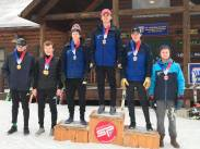 Reynolds '19, Dempsey '19, and Van Slyke '20 swept the podium at the 2019 Empire State Winter Games (Photo: Northwood Skiing).