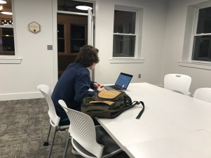 Scenes from the first night of evening study hall at the Innovation Hub (Photo: Mr. John Spear).