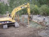 Building erosion control measures on N.F. Ahtanum Creek