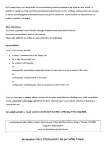 Details of the Vacancy for a Councillor Page 2