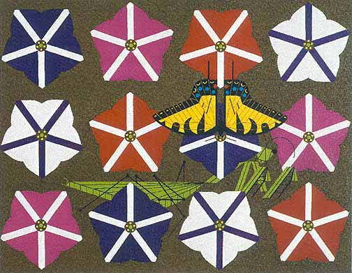 Charley Harper - Peril in the Petunias