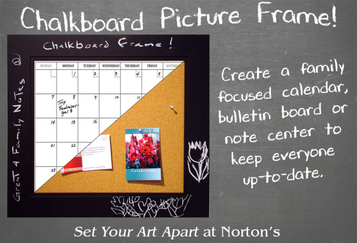 Nortons Chalkboard Picture Frame