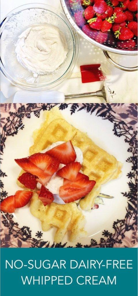 no sugar, dairy free whipped cream