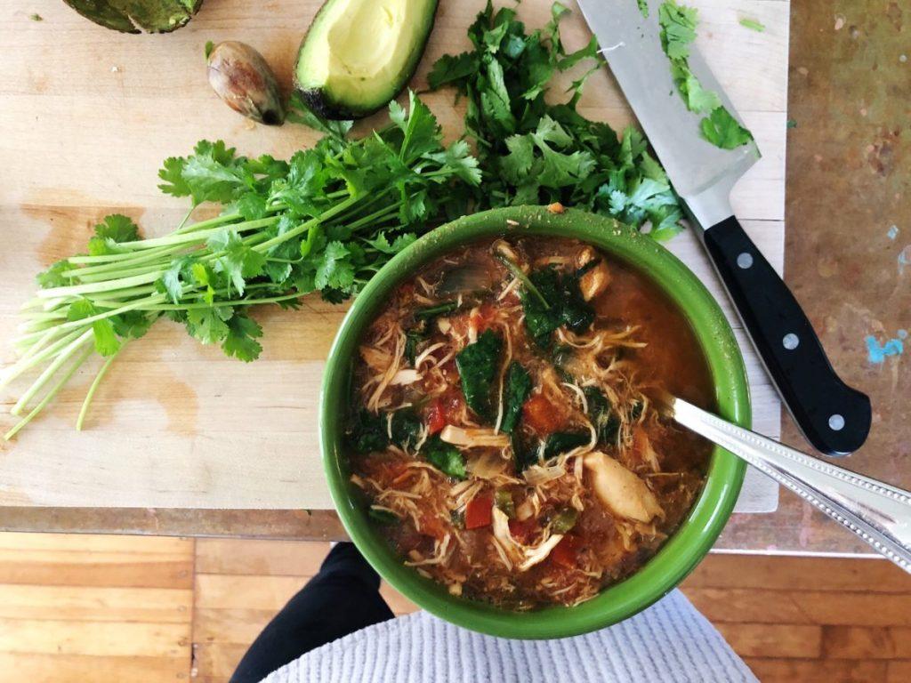 tortilla soup fixins