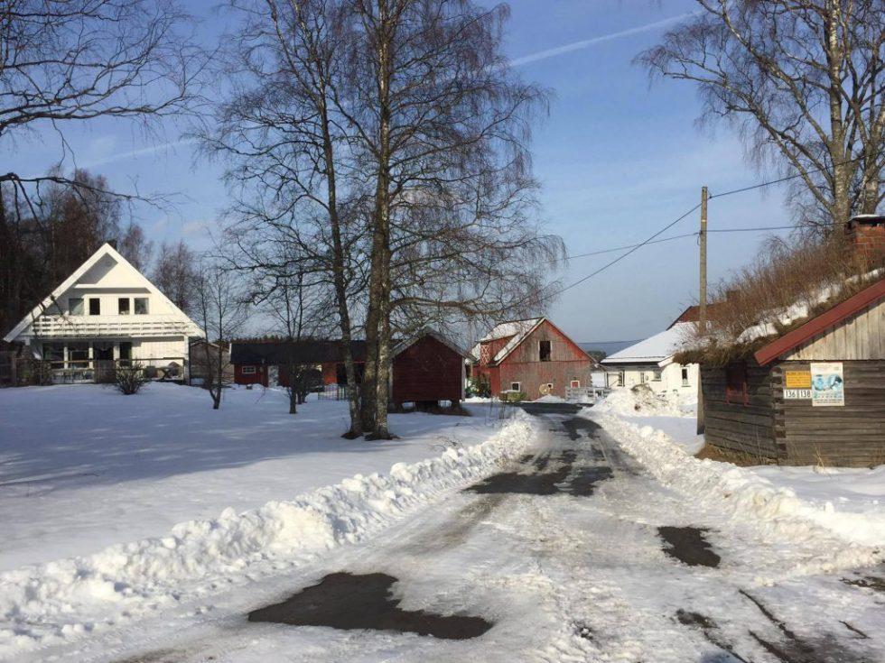 Klokkerstuen gård om vinteren