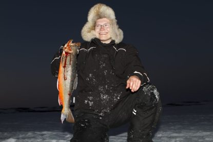 Picture of Kjetil Reiersen with Arctic char
