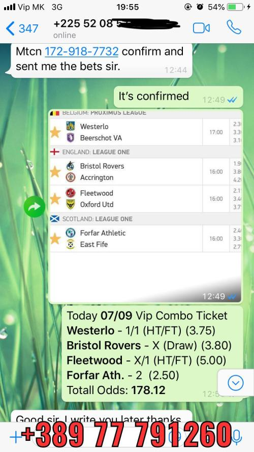 4 fixed matches combo vip ticket won 07 09