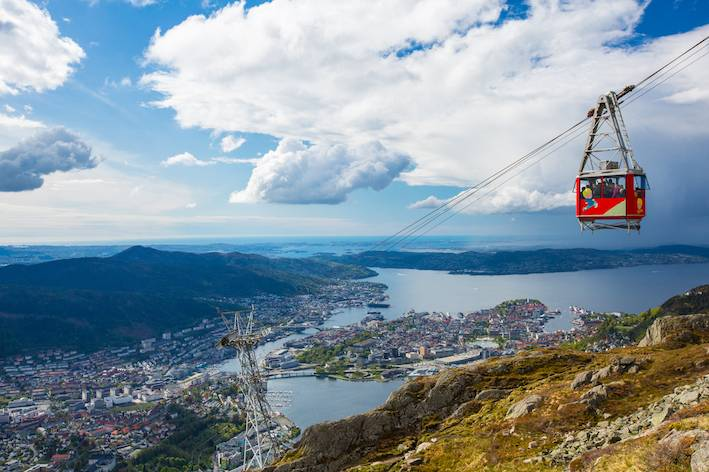 Ulriksbanen / cable car to Mount Ulriken