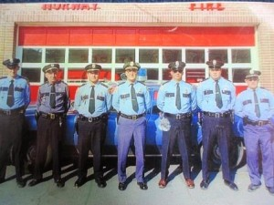 From left to right: Dennis Yates, Roland J. Lacourse, Cliff Larrabee, Ed LaChance, Dale Thomas, Skip Herrick, Dale Allen