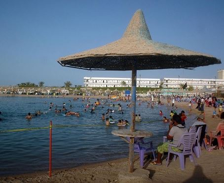 The beach in Egypt