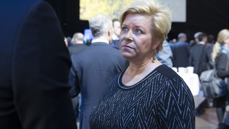 Minister of Finance Siv Jensen