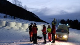 Avalanche in Vågå in Oppland County
