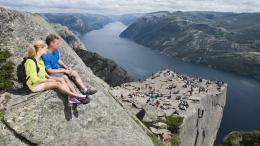 Preikestolen (the Pulpit Rock) . Norway