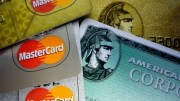 American Express and MasterCard credit cards.