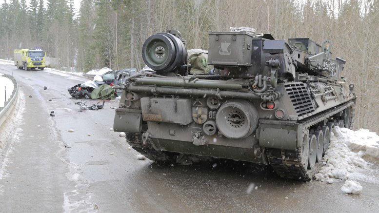 One person died in a collision with tank