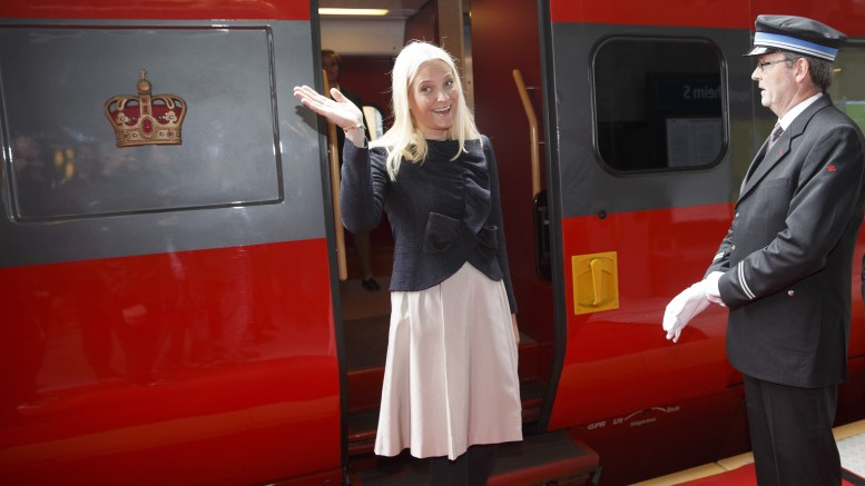 Crown Princess Mette Marit board Literature train