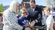 Crown Princess Mette-Marit and Crown Prince Haakon visits Norwegian Maritime Museum.
