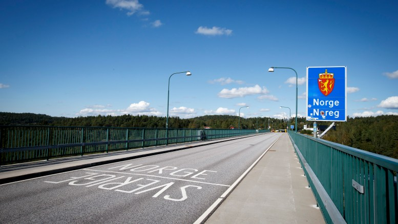 The old bridge over the svinesund, which marks the border between Norway and Sweden