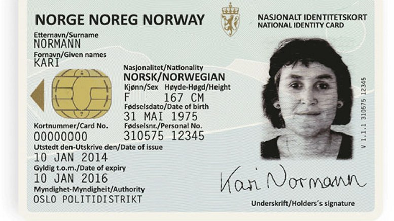 The national ID card Hospital employee