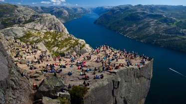 Pulpit Rock in Lysefjord in Rogaland