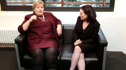 Prime Minister Erna Solberg (left) and vice president of Facebook Sheryl Sandberg