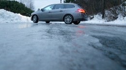 snow and slippery roads