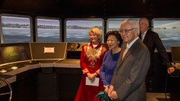 King Harald and the Singapore president pair Tony Tan Keng Yam and Mrs. Mary Tan