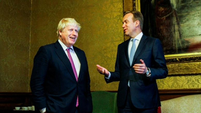 London, United Kingdom. Foreign minister Børge Brende (R) visited on Wednesday the UK's foreign minister Boris Johnson in London.