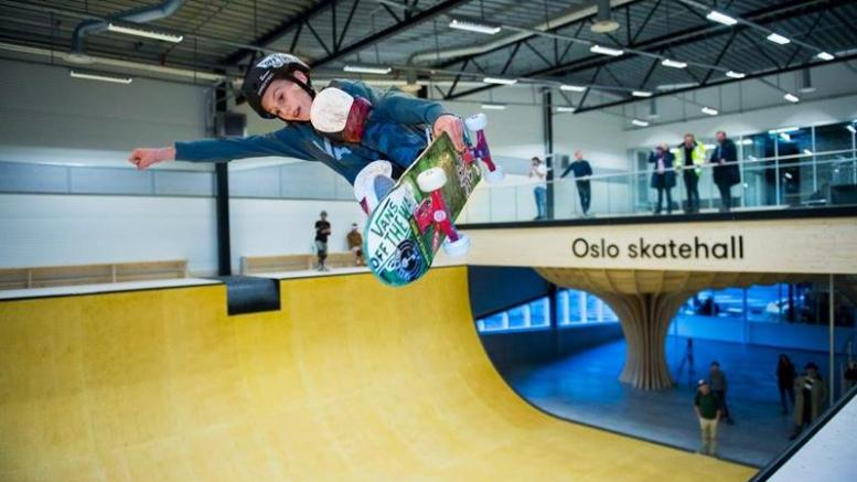 New indoor skatepark at Voldsløkka