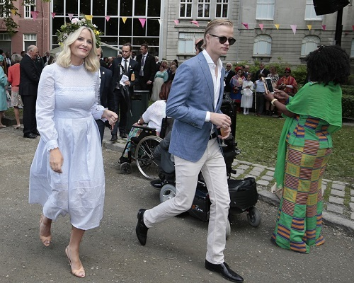The son, Marius Borg Høiby, and Crown Princess Mette-Marit