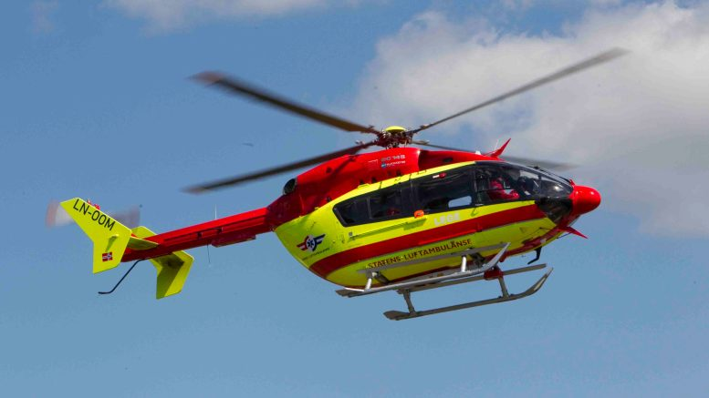 Helicopters from the Norwegian Air Ambulance