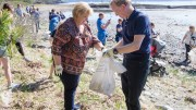 Prime Minister Erna Solberg, Beach Cleaning Day