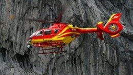 Rescue helicopter capsizing