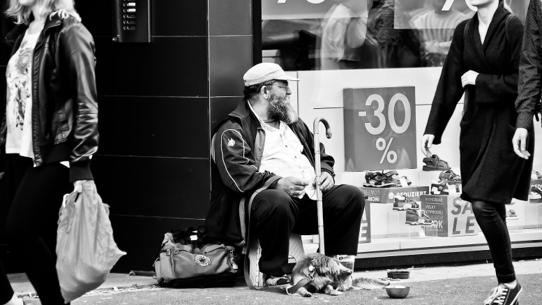 Begging man Poverty