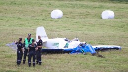 small plane crashed