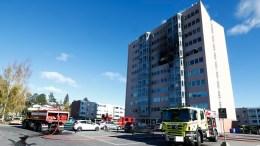 fire in apartment block on Romerike