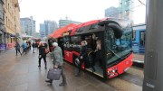 electric articulated bus