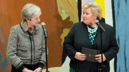 Prime Ministers Erna Solberg and Theresa May