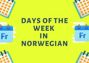 learn_days_in_norwegian