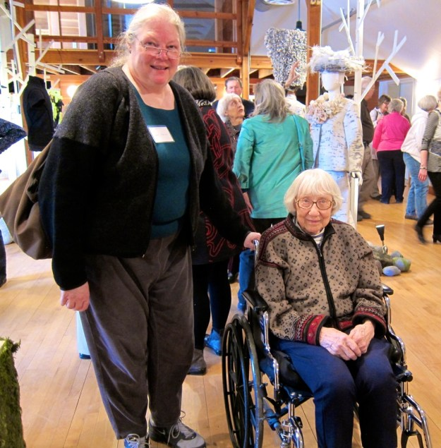 """Lisa and Neal took Lila to Dassel this spring for the opening of the """"Nordic Roots"""" exhibit"""