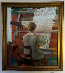 Hans Berg painted his wife Inga at the loom (not in the exhibit).